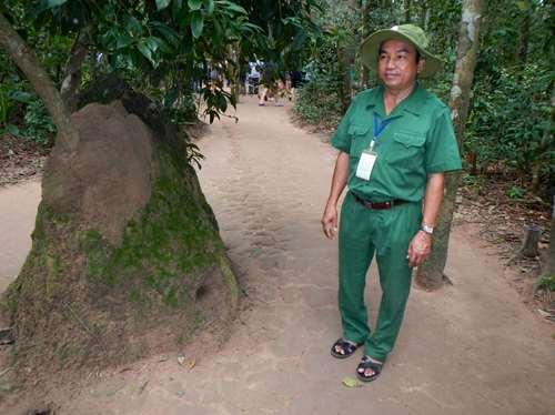 Tunnels de Cu Chi Ho Chi Minh, Vietnam