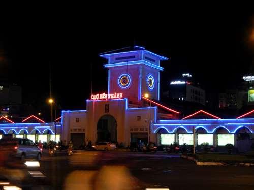 Claironyva Vietnam Ho Chi Minh Saigon Marché couvert by night