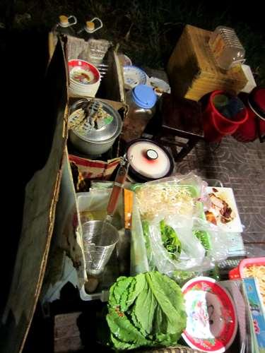 La cuisine du resto à Hoi An