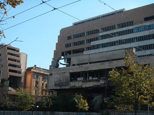Claironyva Belgrade sites bombardés