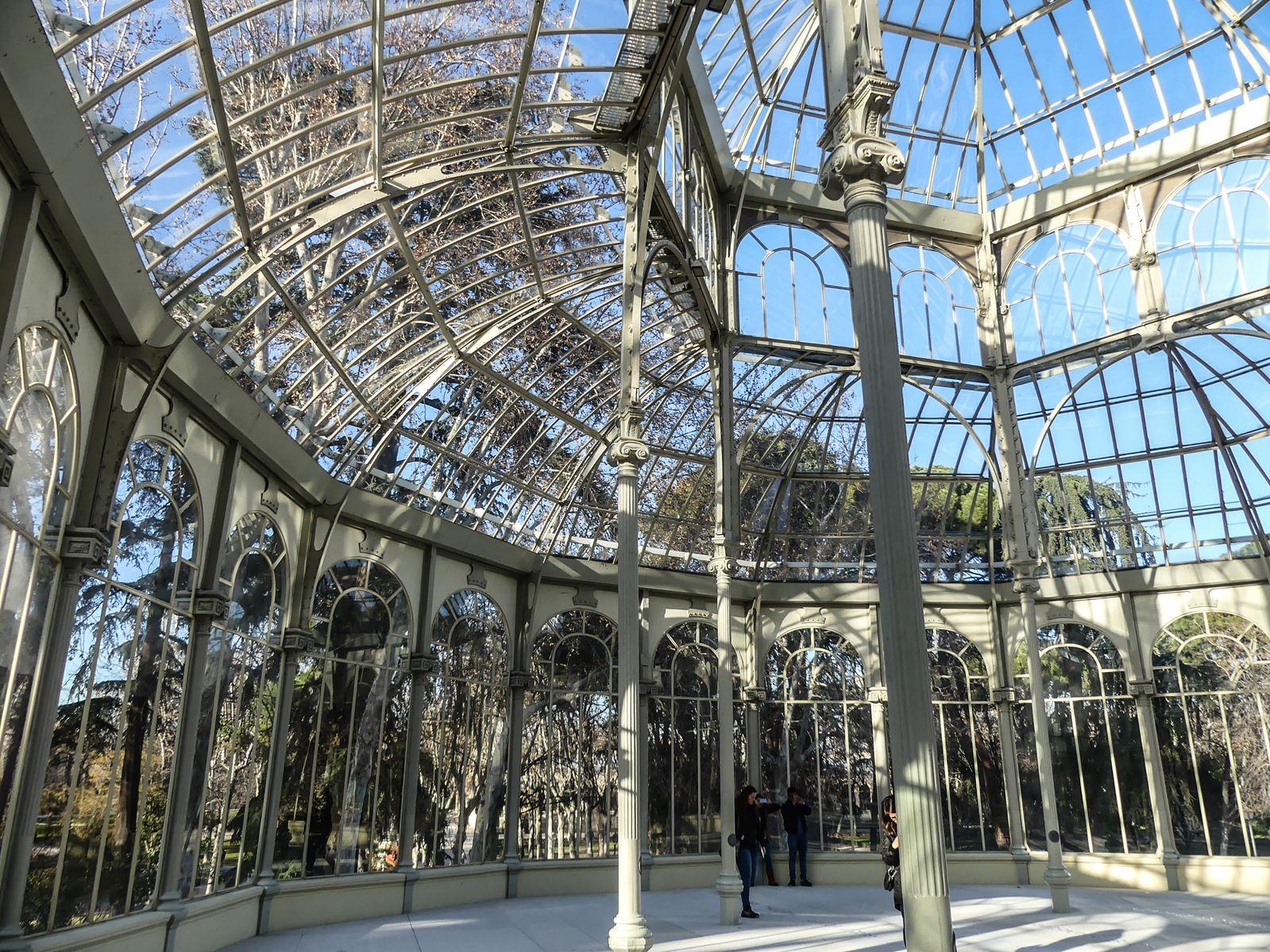 madrid-claironyva-el parque del retiro - palacio de cristal