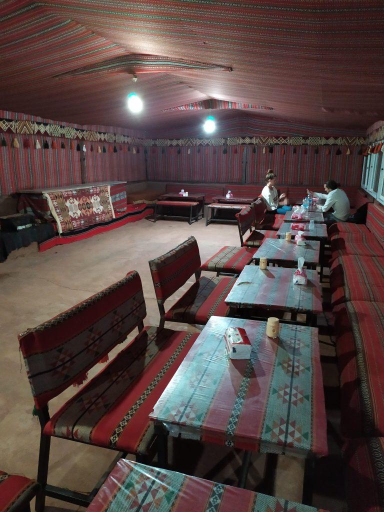la grande tente du Désert Moon Camp