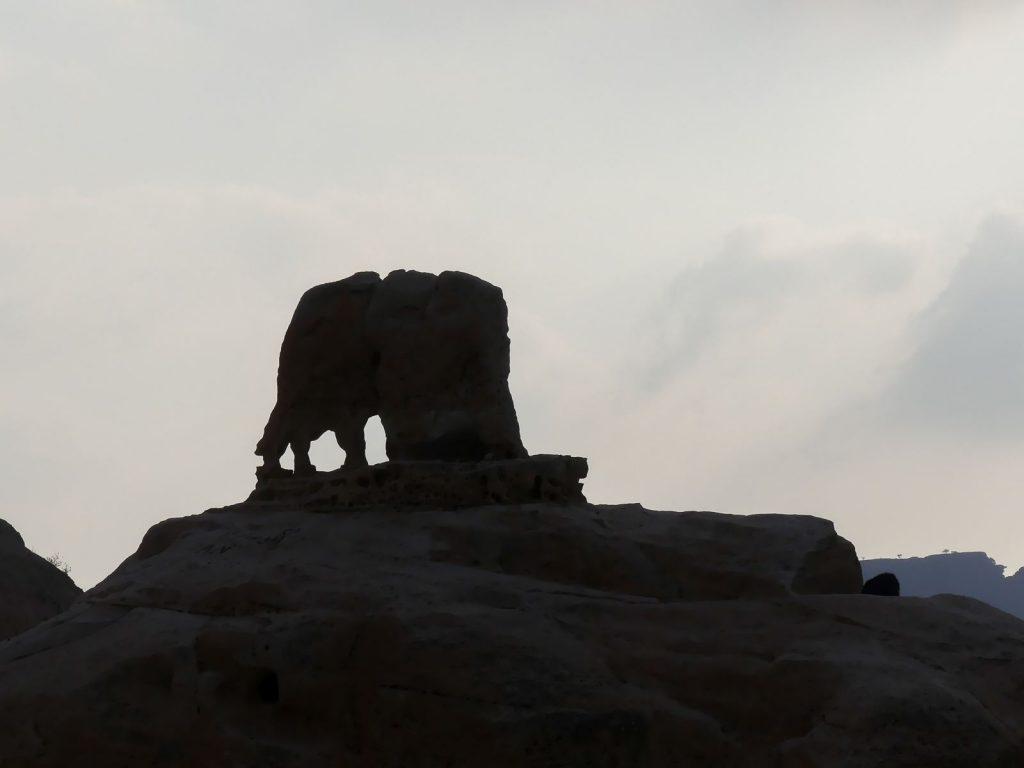 Little Petra - rocher en forme d'éléphant
