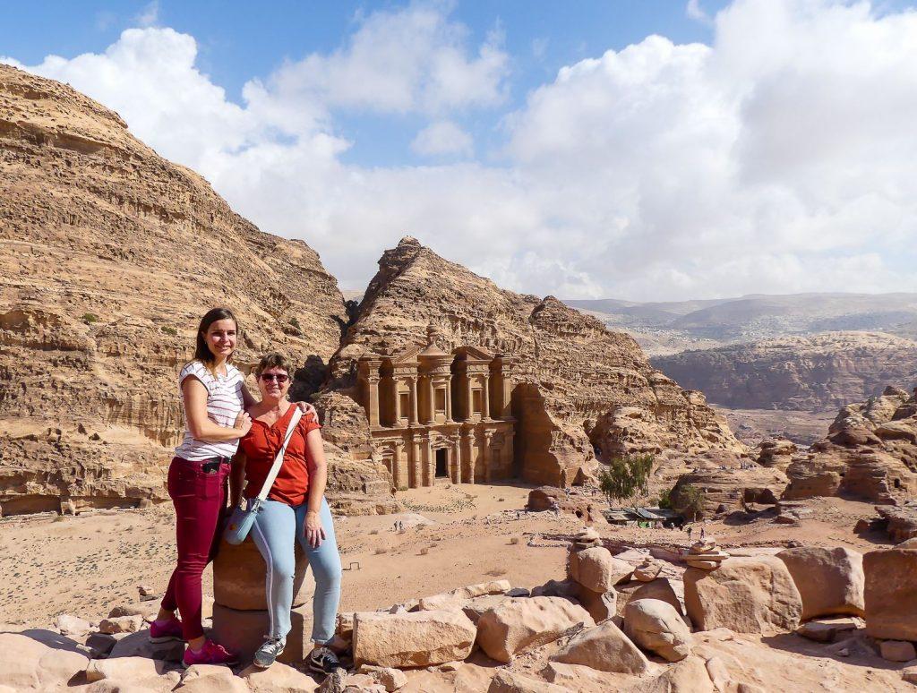 Petra - jolie vue sur le Monastère après une grande balade