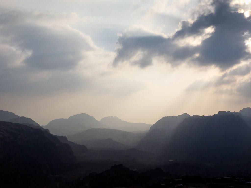 FIn de journée en approche de Petra