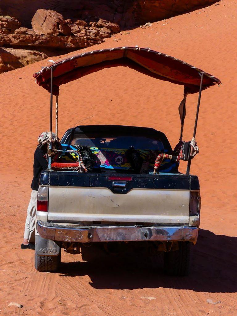 Wadi Rum - Arrêt 2 - notre véhicule