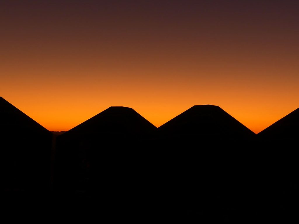 Désert du Wadi Rum coucher de soleil