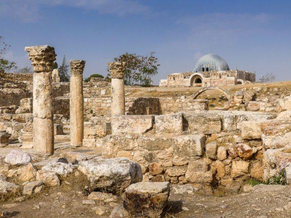 Jordanie- Amman - Citadelle - Eglise Byzantine - Mosquée