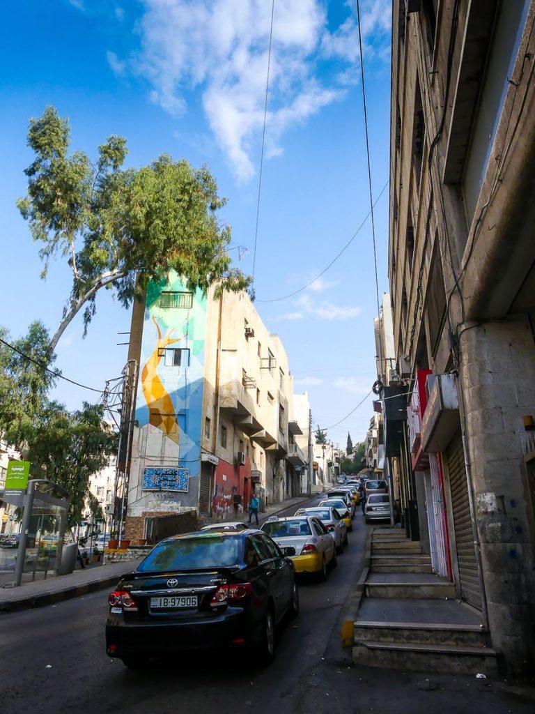 Jordanie - Amman - route pour aller citadelle