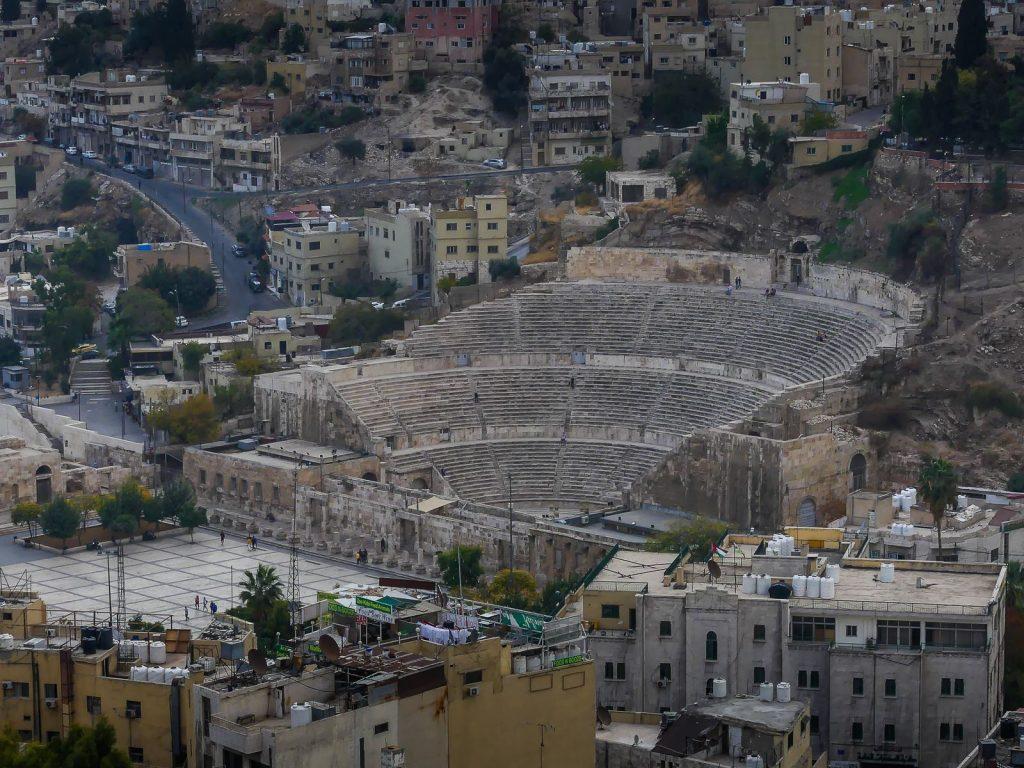 Jordanie - Amman - vue de la citadelle - théâtre romain