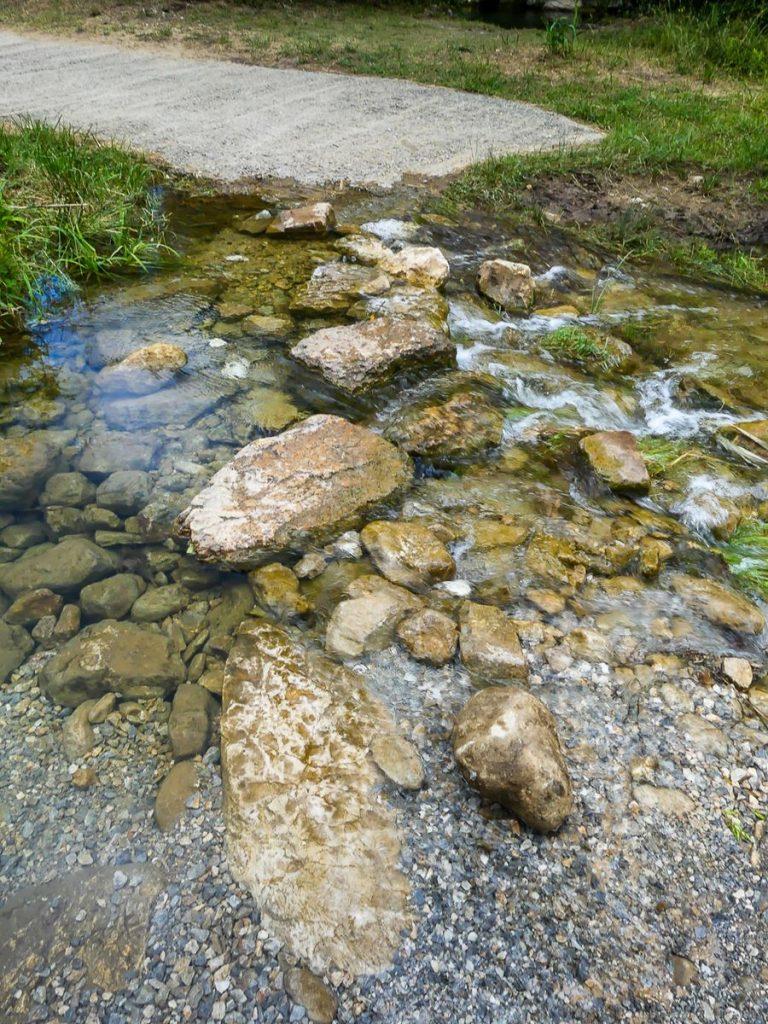 Gorges du  Verdouble - premier passage de rivière